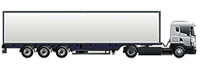 Long distance moving truck image